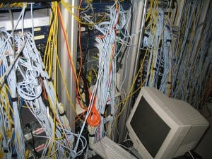 photo of messy server room for Tempesta Web Engineering in Warren, Oh