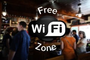 image of people in bar enjoying wifi for Tempesta Web Engineering in Warren, Oh