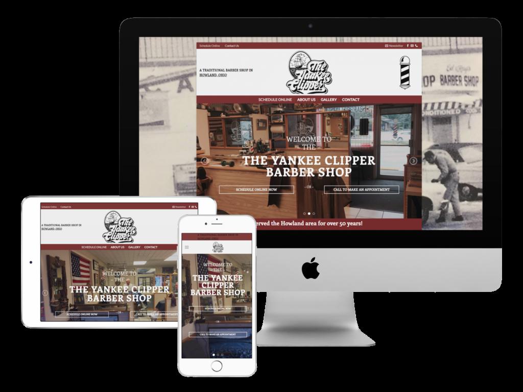 screenshot of barbershop web design by Tempesta Web Engineering in Warren Oh