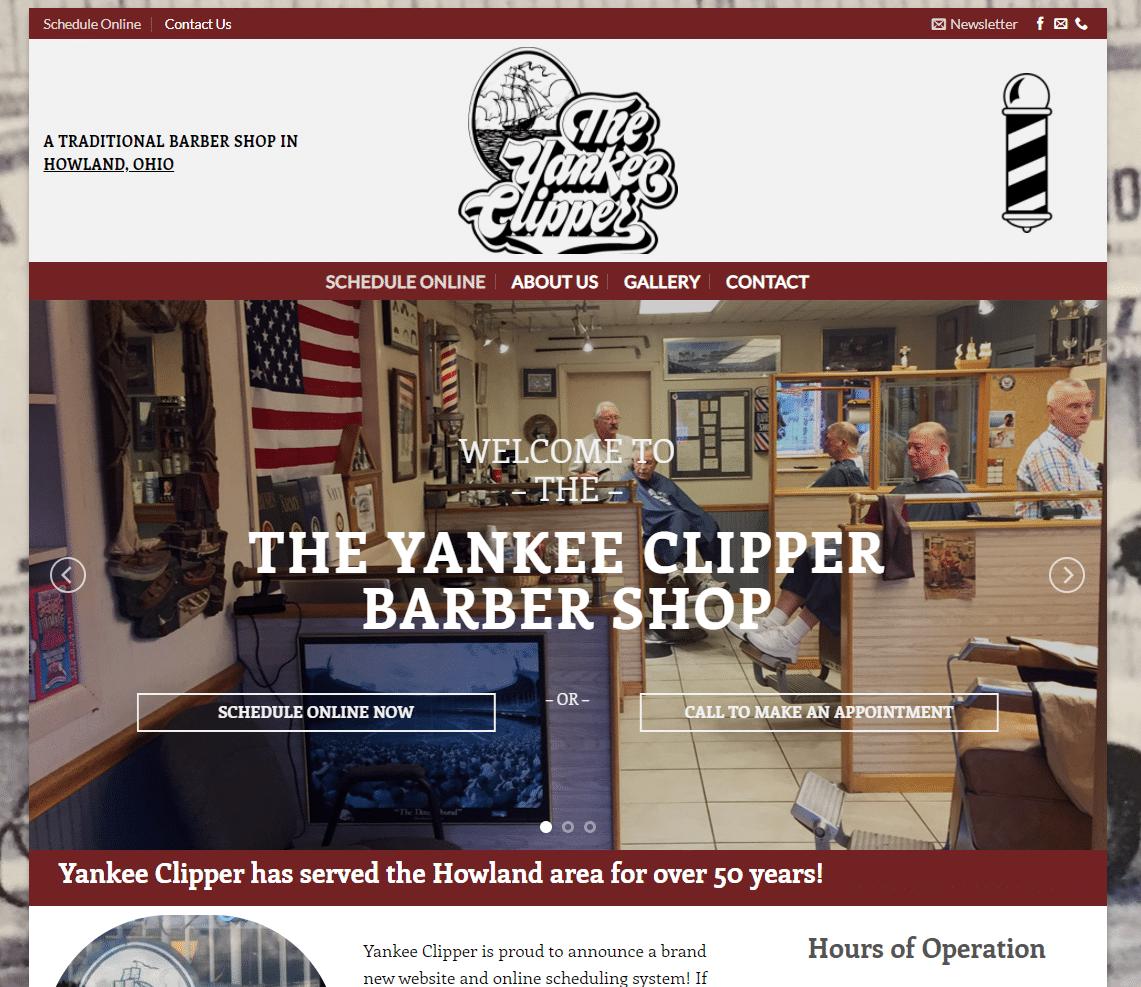 screen shot of small business website Yankee Clipper in Warren Ohio