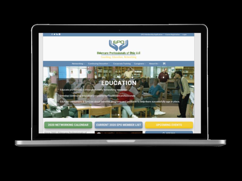 screenshot of eldercare web design by Tempesta Web Engineering in Warren Oh