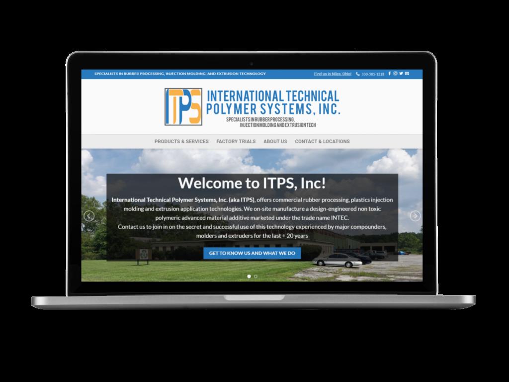 screen shot of engineering website design by Tempesta Web Engineering in Warren Oh